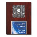 Silver Opaline Plaque Employee Awards