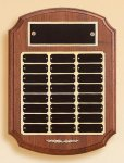 American Walnut Ornate Perpetual Plaque Sales Awards